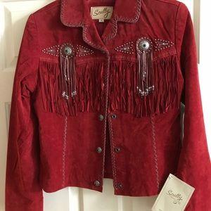 Red Suede Western Jacket